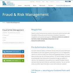 Ecommerce Fraud Prevention