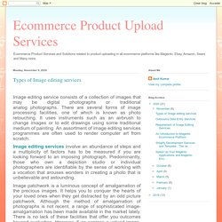 Ecommerce Product Upload Services: Types of Image editing services