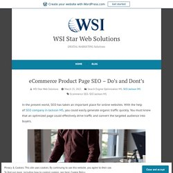 eCommerce Product Page SEO – Do's and Dont's
