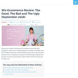 Wix Ecommerce Review: The Good, The Bad and The Ugly (August 2016)
