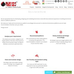 Ecommerce Store Design Services, eCommerce Store Builder