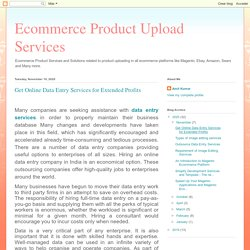 Get Online Data Entry Services for Extended Profits