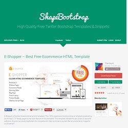 E-Shopper - Best Free Ecommerce HTML Template - ShapeBootstrap