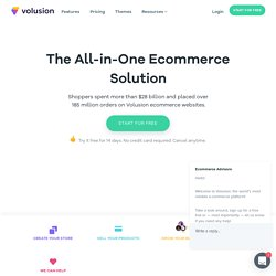 Shopping Cart Software and Ecommerce Software by Volusion Ecommerce Solution