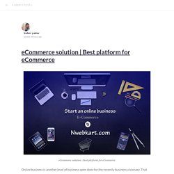 Best platform for eCommerce