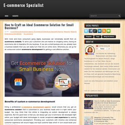 How to Craft an Ideal Ecommerce Solution for Small Business? ~ E-commerce Spezialist