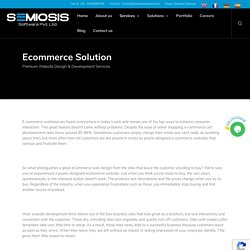 Ecommerce Solutions - SEMIOSIS SOFTWARE PRIVATE LIMITED
