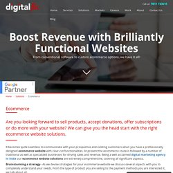 Become more customer-centric with our ecommerce website development services- Digital Flic