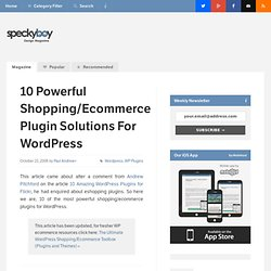 10 Powerful Shopping/Ecommerce Plugin Solutions For Wordpress : Speckyboy Design Magazine