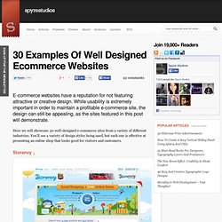 30 Examples Of Well Designed Ecommerce Websites
