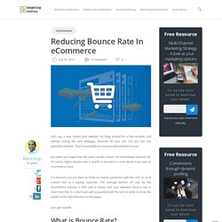 Reducing Bounce Rate In eCommerce