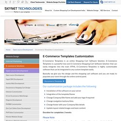 Custom Ecommerce Template Design - Skynet Technologies