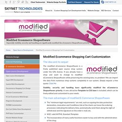 Modify Ecommerce Shpoonig Cart Software - Skynet Technologies