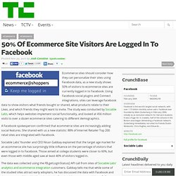 50% Of Ecommerce Site Visitors Are Logged In To Facebook