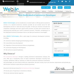 Hire eCommerce Developer from India