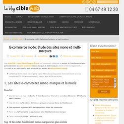 E-commerce mode: étude des sites mono et multi-marques
