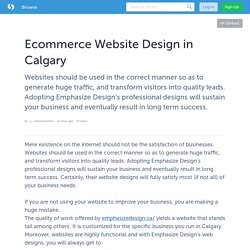 Ecommerce Website Design in Calgary