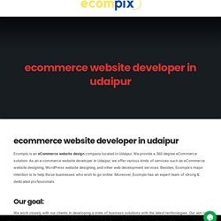 ecommerce website developer in udaipur - Ecompix