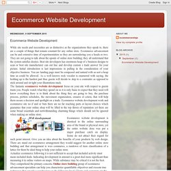Ecommerce Website Development: Ecommerce Website Development