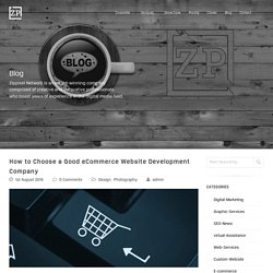 How to Choose a Good eCommerce Website Development Company