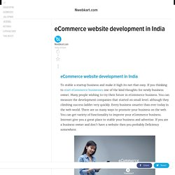 eCommerce website development in India