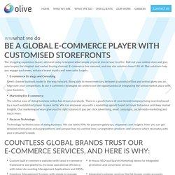 Ecommerce website design & development company in Delhi - Olive
