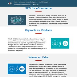 SEO for eCommerce Website, eCommerce SEO Services