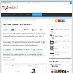 20 Best Html Ecommerce Website Templates
