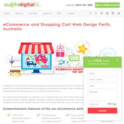 eCommerce Websites Design with Shopping Cart Perth, WA
