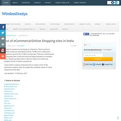 List of eCommerce/Online Shopping sites in India - WirelessDuniya