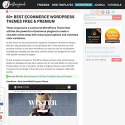30 Best Free and Premium Responsive Ecommerce Wordpress Themes