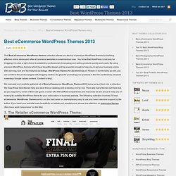 10 Best eCommerce wordpress themes 2012 (June)
