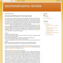 ecommercemix review: Ecommerce Mix Review For Yard Sale Script