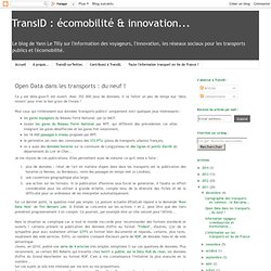 Open Data dans les transports : du neuf !