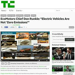 "EcoMotors Chief Don Runkle: ""Electric Vehicles Are Not 'Zero Emissions'"""