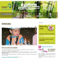 France Aventures : parcs multi-activités éconatures à Amnéville-les-Thermes, Nancy, Lyon, Chamrousse et St-Etienne - Anniversaires