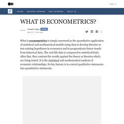 WHAT IS ECONOMETRICS ?