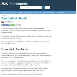 Economia no Brasil: atual e história