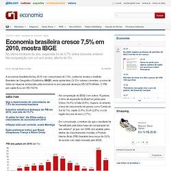 Economia - Economia brasileira cresce 7,5% em 2010, mostra IBGE