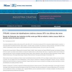 Mapeamento da Indústria Criativa no Brasil
