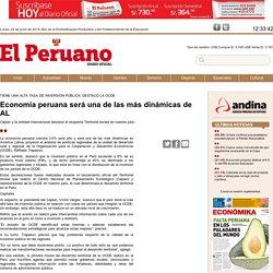 Economía peruana será una de las más dinámicas de AL