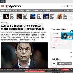 Cursos de Economia em Portugal: muita matemática e pouca reflexão