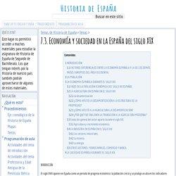 7.3. Economía y sociedad en la España del siglo XIX - Historia de España