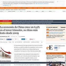 La economía de China crece un 6,9% en el tercer trimestre, su ritmo más lento desde 2009