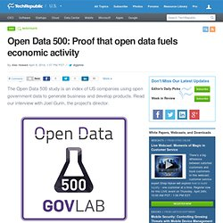 Open Data 500: Proof that open data fuels economic activity