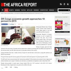 DR Congo economic growth approaches 10 percent in 2015