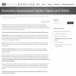Economic Assessment Centre Topics and SAQs - Civil Service