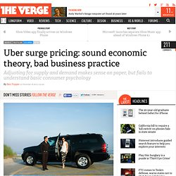 Uber surge pricing: sound economic theory, bad business practice