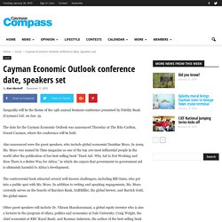 Cayman Economic Outlook conference date, speakers set