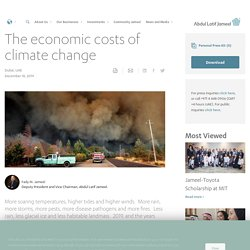 The economic costs of climate change